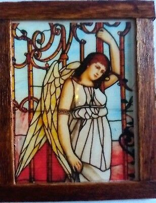 Dolls House Stained glass look Picture Angel