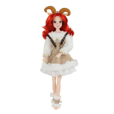 30cm Flexible 14 Joints Constellation Doll with Clothes Aries Style
