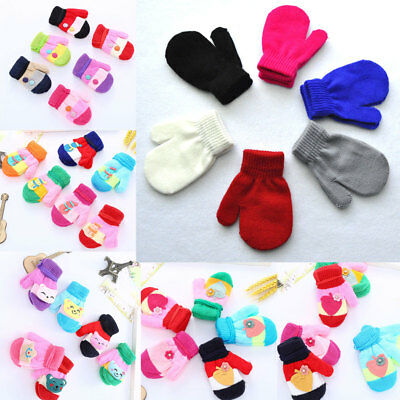 Thick Warmer Protector Finger Baby Winter  Warm Glove Mittens knitted Glove