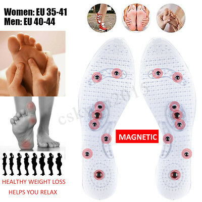 Pair Silm Sole Acupressure Magnetic Massage Foot Therapy Reflexology Pain