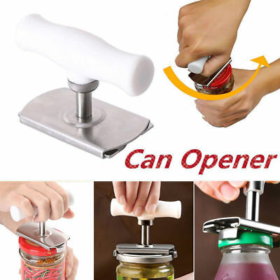 Stainless Steel Bottle Jar Can Opener Cap Grip Twister Easy Adjustable