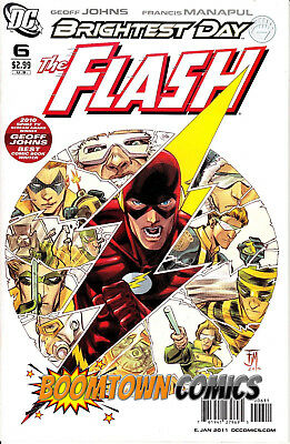 The Flash #6 Brightest Day [11/2010] DC Comics - VF- 3rd Series, F. Manapul