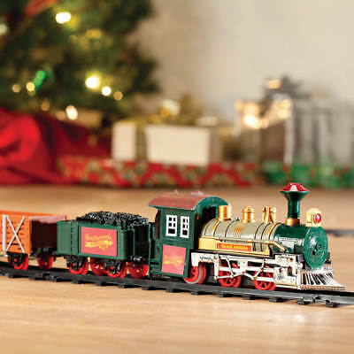 Old-Fashioned Classic Northwoods Express Under The Tree Christmas Train Set