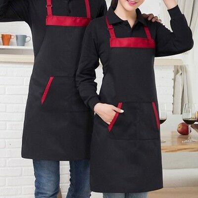 Womens Mens Chef Cooking Apron Kitchen Restaurant Cooking Bib Dress With Pockets