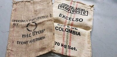 Hessian Coffee Sack Bags x 2