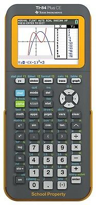 Texas Instruments TI-84 Plus CE Graphing Calculator w/ Color Screen - YELLOW