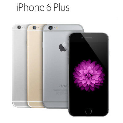 Apple iPhone 6 Plus-16GB 64GB 128GB GSM -Factory Unlocked- Gold Gray Silver