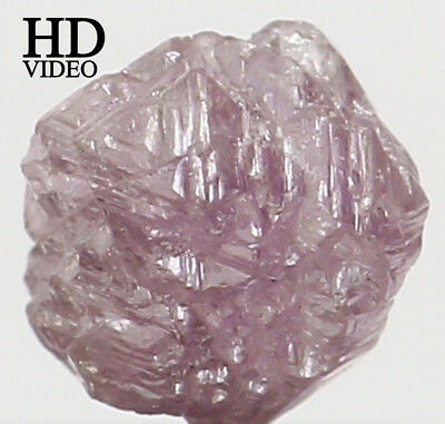 Natural Loose Diamond Rough Pink Color I3 Clarity 4.40 MM 0.50 Ct L6586