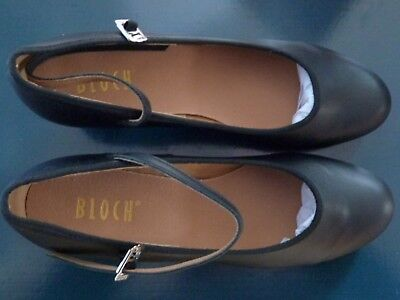 Bloch-ShowTapper Tap Shoes-womens-Black-cuban heel S0323L-Size 10-Brand New+Box