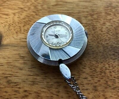 Vintage Citron De Luxe Antimagnetic Swiss Movement Metal Pendant Watch