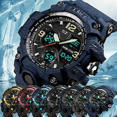 SKMEI Luxury Analog-Digital Date Military Army Men Sport Waterproof Wrist Watch