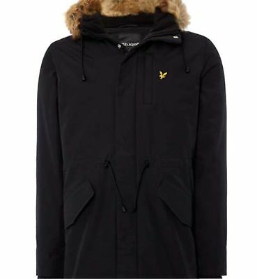 Lyle & Scott Winter Weight Microfleece Lined Parka - true black - new tags