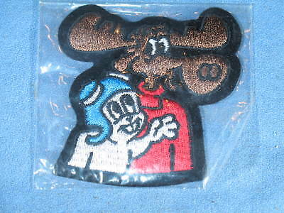 Rocky & Bullwinkle Embroidered Iron On / Sew On Patch