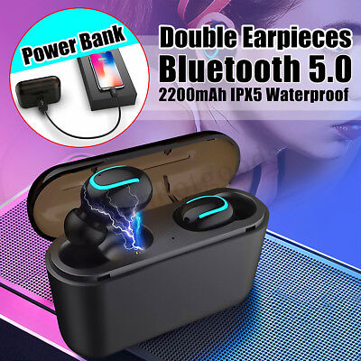 Bluetooth 5.0 Headset TWS Wireless Headphones In-Ear 3D Stereo Earphones Earbuds