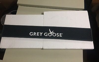 "BRAND NEW SEALED Grey Goose Vodka Bar Rail Spill Mat 23½"" x 3½"" Runner BLACK NIP"
