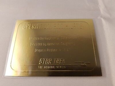 Star Trek TOS 1966-1967 Season One Gold Plaque Card G29, 1:12