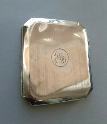 Antique Sterling Silver Cigarette Case Holder 1922 F H Adams & Co