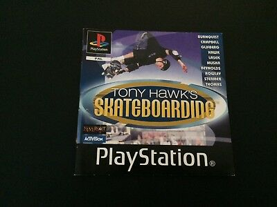 Tony Hawk's Skateboarding Manual Only Sony PlayStation PS1 Instructions Manual