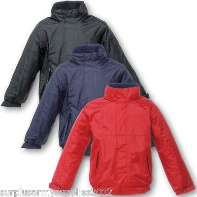 Kids Regatta Fleece Lined Waterproof Jacket 3-16 Yrs Boys Girls Coat Ek