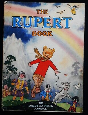 Vintage Original 1948 Rupert Bear Annual, Price Unclipped 4/-, A Harrison Print