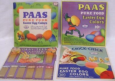 Vtg LOT 4 Different Packs Easter Egg Dye w Transfers Checker Game Ephemera