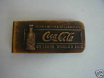 Coca Cola Advertising Money Clip St Louis World's Fair