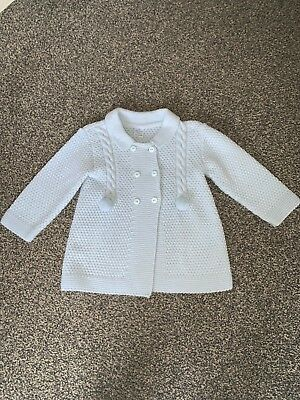 Boys Baby Blue Spanish Style Knitted Cardigan Age 18 Months - 2 Years