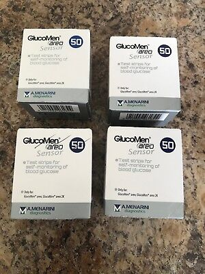 4 boxes of glucomen areo test strips