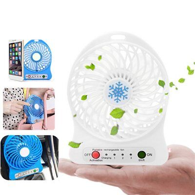 Mini LED Fan Air Cooler Battery Operated or USB Charging LED Light Fan GD