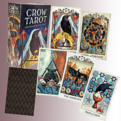 CROW TAROT BY MJ CULLINANE+ 88-PAGE Guide Booklet FORTUNE TELLING