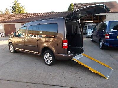 Wheelchair Accessible Wav Disabled Mobility 2013 Volkswagen Caddy Auto, Ramp,