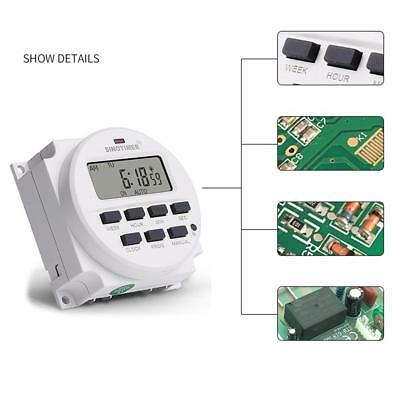 7 Day Heavy Duty Weekly Digital Electric Programmable Timer Switch Controller UK