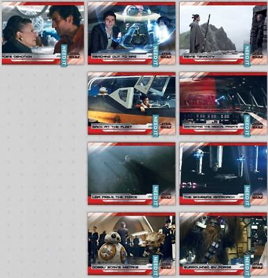 LAST JEDI SELECTS SERIES 2 WAVE 6 WHITE SET OF 9 CARDS Star Wars Trader Digital