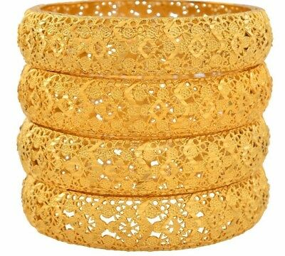 e4879b8172 Gold Color Bangles For Women Ethiopian Bracelets East Jewelry African Gifts