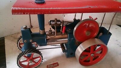 A Used Wilesco Steam Engine D405 In Working Condition.