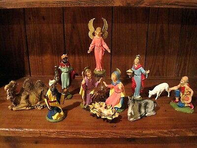 Vintage Nativity Set, FONTANINI, Depose Italy, Spider Mark, 1960's
