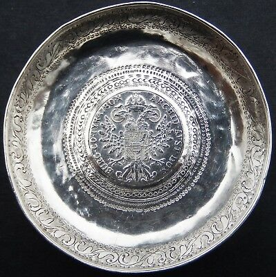 Fine Antique Islamic High Purity Solid Silver Coin Dish; Sudan c1910