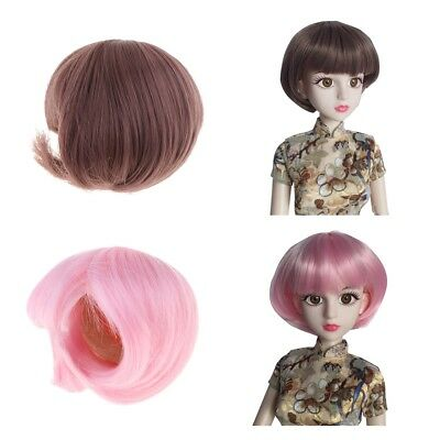 Cosplay Doll Accessories 1/4 BJD Doll Hair Bjd Wig Short Straight Bobo Hair
