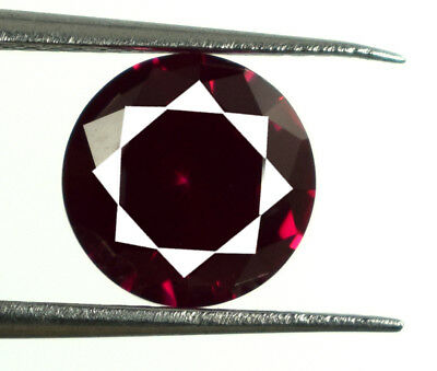 Natural Mozambique Round Cut Loose Gemstone Red Ruby 3.05 Ct Certified E6756