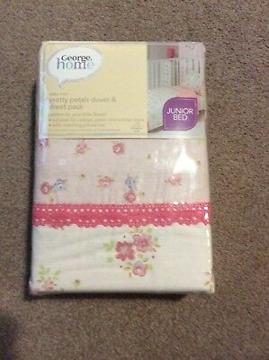 GEORGE Pretty Petals Duvet and Sheet Pack for Junior Bed
