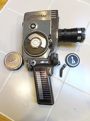 Vintage Yashica 8-E 16mm Reflex Zoom Movie Camera with 12.5-37.5mm Lens