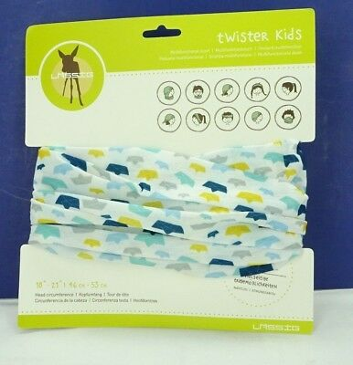 """Lassig Twister Kids Multi Functional Scarf 18"""" - 21"""" / Paper Boats / T3"""