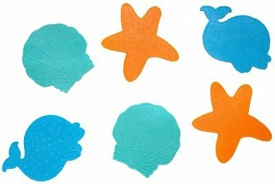 Clippasafe 6 MINI BATH MATS ASSORTED COLOURS Baby/Child/Kids Safe Bathing BNIP