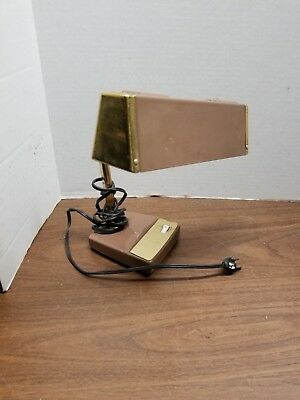 Vintage Mobilite Woodgrain Desk Lamp W Dimmer Switch 2700