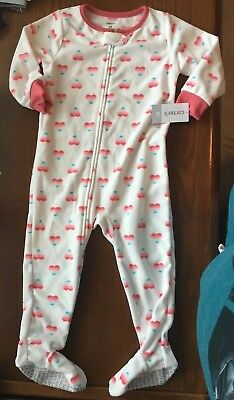 420c5447080d CARTERS FOOTED PAJAMAS Toddler Girls 3t -  4.75
