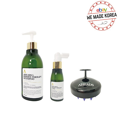 Aheads L Hidden Therapy Anti-Hair Loss Hair Thickening Shampoo+Scalp Brush+Tonic