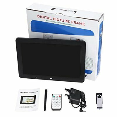 """NEW YKS Black 12"""" LED Digital Picture Frame USB MP3 Video Playback Boxed"""