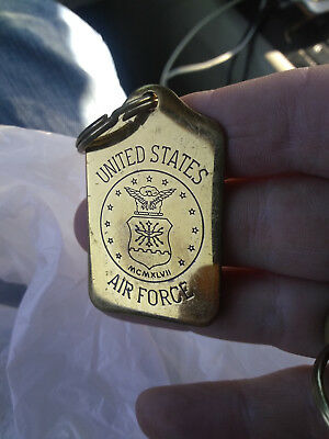 Vintage NOS (new old stock)  US Air Force   Brass  Keychain 1980's