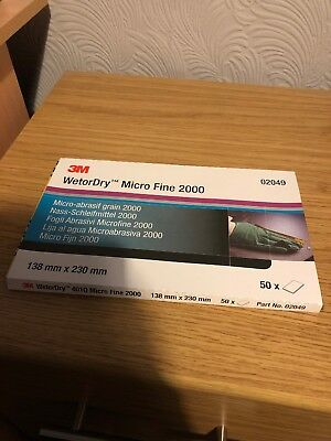 3M 02049 Micro Fine 2000 Grit Wet and Dry 50 Sheets