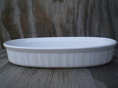 Corning Ware French White 1 Ltr. Oval Low Casserole Dish